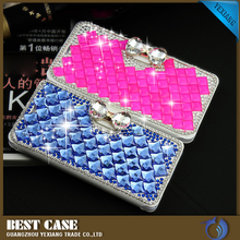 Yexiang hot selling flip leather case bling diamond cellphone case cover shockproof case for sony xperia z2