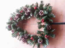 "10"" 12"" 14""16.5"" 24"" 30"" Traditional Green Canadian Pine Artificial Christmas Wreath - Unlit"