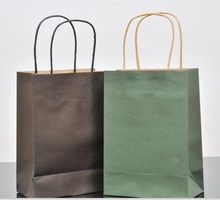Custom Luxury carry shopping brown kraft paper bag for gift