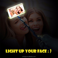 new products 2016 3 in 1 Selfie Stick Led Light Selfie Phone Case for iPhone 6s with Flash Calling Remind