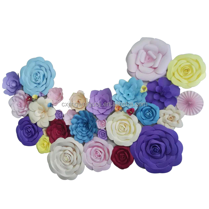 handmade wall decoration paper flowers
