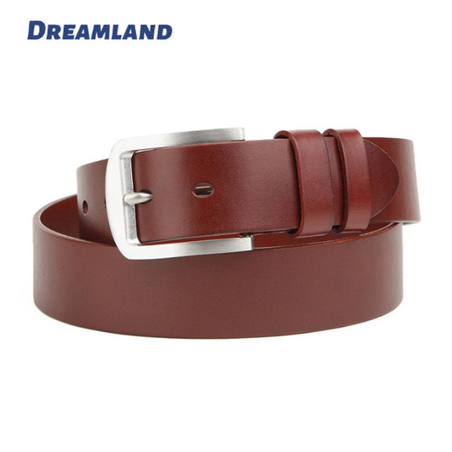 Block Edges Leather Mens Trousers Belts Wholesale
