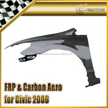 For Honda fit Civic 2006 4 Door Carbon Fiber OEM Fender 2pcs