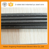 prestressed tendon wire indented pc steel wire for post tensioned concrete bridge