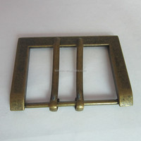 Custom adjustable metal Double needle belt buckle for sale