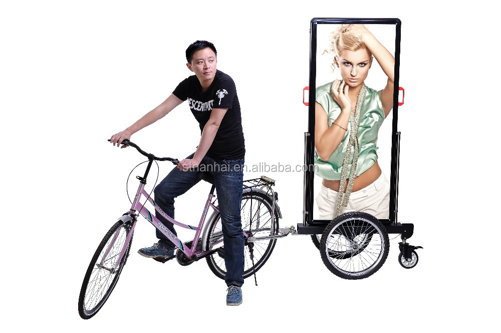 J4B-037 New products hot sell moving outdoor advertising bike trailer for street promotion
