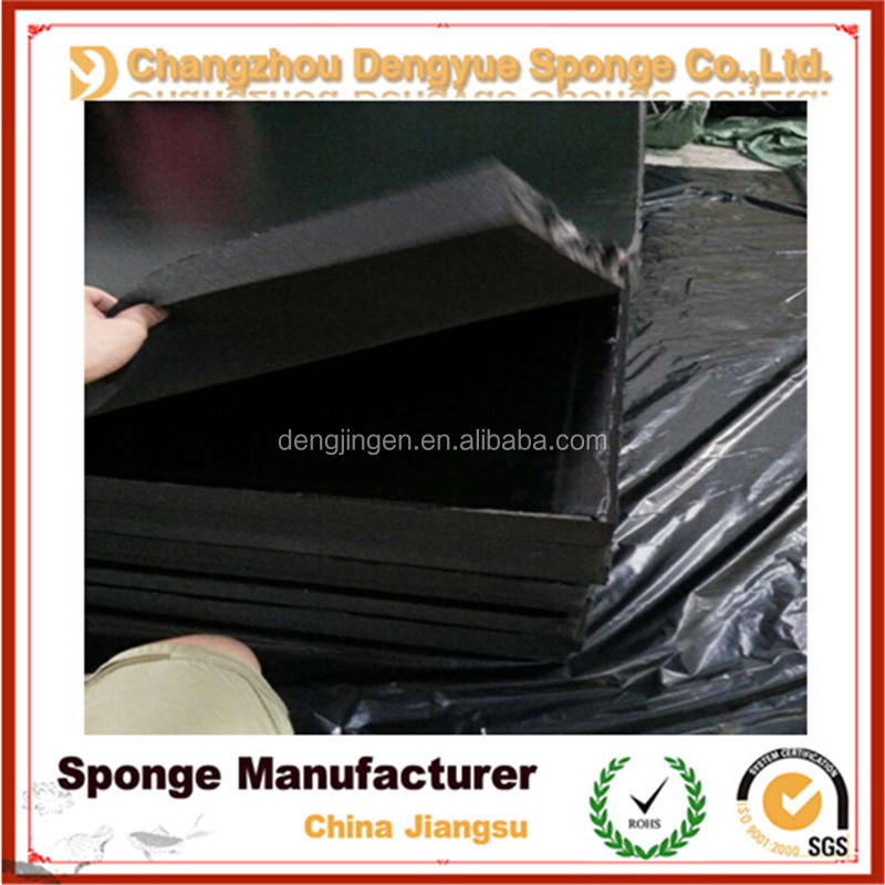 High Density Pu Soundproof Absorption Foam With Black Film
