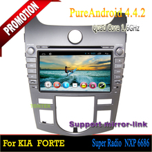 Quad core Android 4.4 For Kia Cerato Forte 2008-2012/car multimedia/car audio system /android radio with gps bluetooth DVD
