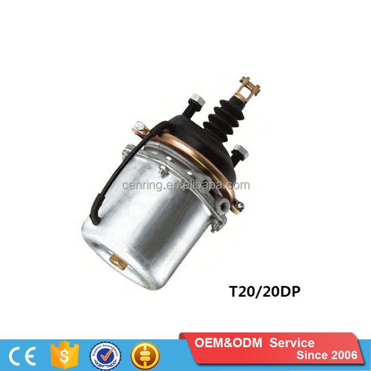 T20/20DP Wholesale Single&Double Room Brake Chamber Black Piston spring brake chamber Brake Chamber For Universal