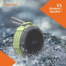 Gsou promotional stocks waterprof IPX5 shower bluetooth speaker with suction cup