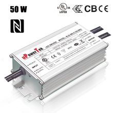 50W NFC Programmable IP67 waterproof constant current 0-10V PWM timer dimmable LED driver for floodlight