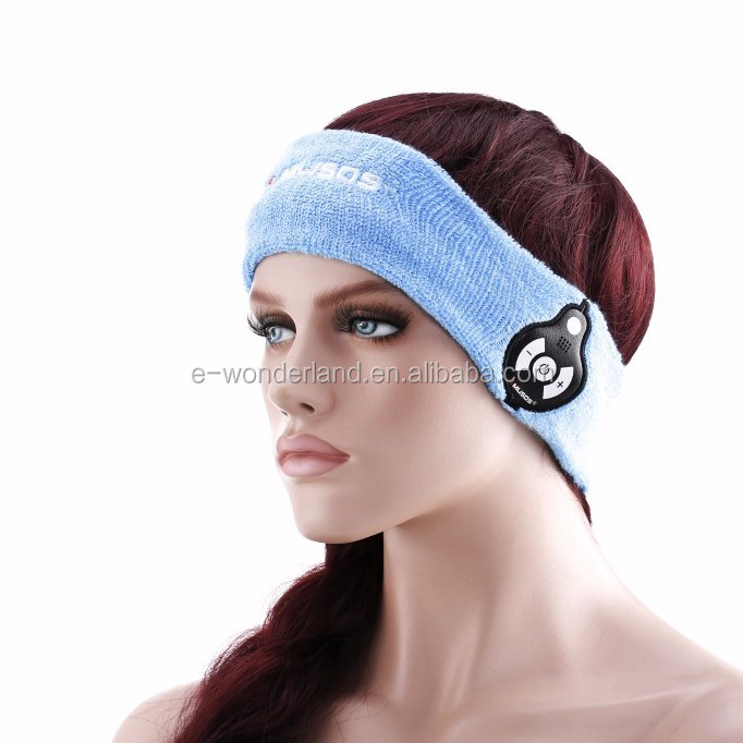Bluetooth cheap Sports Headband Earphones Sweat Absorption Cap for Running Headgear with Microphone
