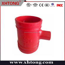 Hot Sale Fire Protection FM/UL certificated pipe fittings threaded union tee 4''