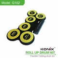 China Foldable Electronic Drum Kit USB MIDI Roll Up Drum Kit with Software