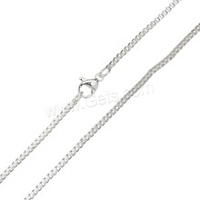 Fashion small stainless steel chain to make jewelry thick 925 sterling silver plated