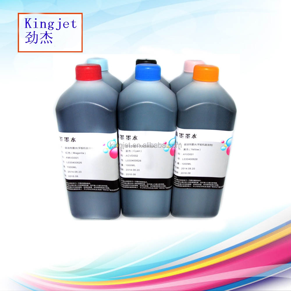 Kingjet Dedicated Solvent ink for Konica 1024i 13pl/14pl printhead with light smell