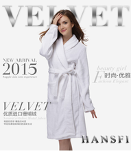 Factory wholesale 2015 new style hotel coral fleece bathrobe