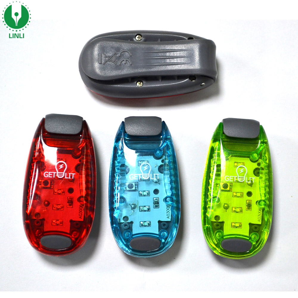 Plastic Mini Clip Led Safety Light Clip on Strobe/Running Light