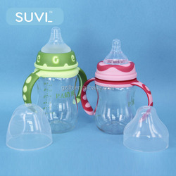 lucky baby products custom color pink green round cross 240ml PA innovative baby bottle feeding