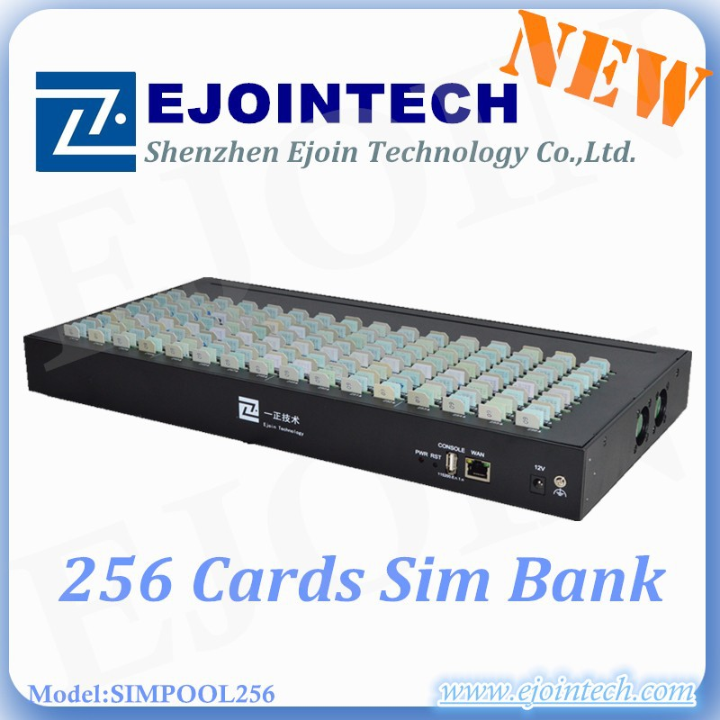 ejoin 256 sim bank 16 ports call center equipment GOIP GSM gateway,gsm USSD, IMEI change, SMS