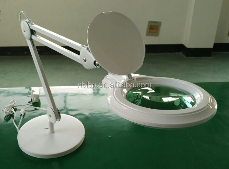 table base manicure multicolour ornament ring LED magnifying lamp