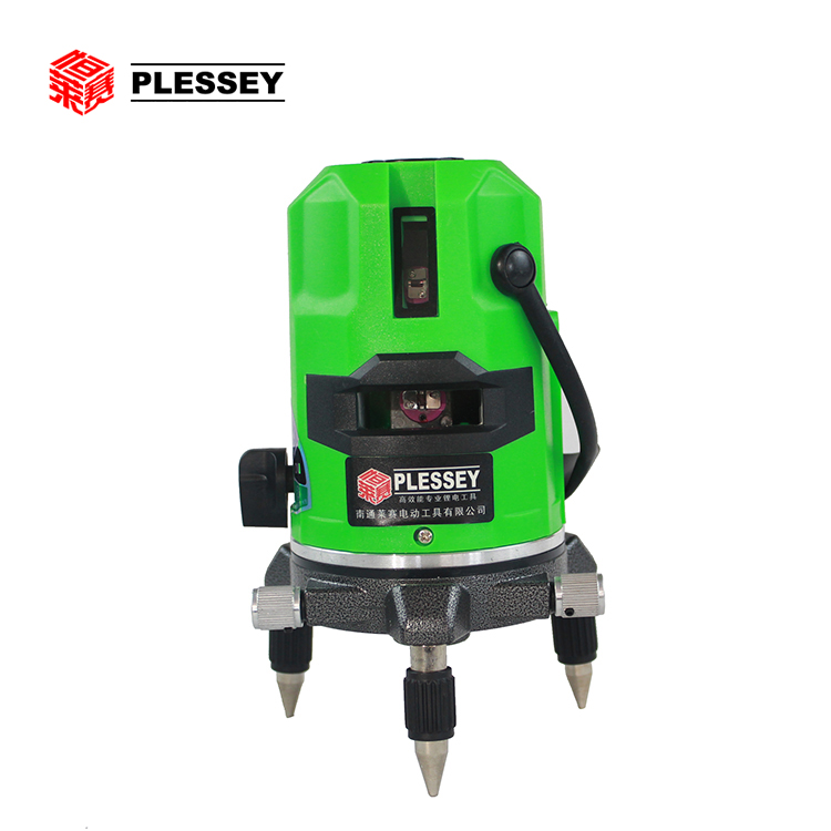High precision cross line green laser level