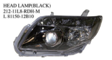 212-11L8-RDH-M OEM 8150-12B10 FOR TOYOTA COROLLA AXIO/FIELDER 06'-08' Auto Car head lamp head light(black)