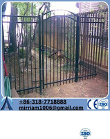Landscape Wrought Iron gates for Garden (factory directly)