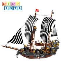 new arrival product kid funny block pirate ship toy from China direct factory