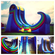 Residential Huge Inflatable Water Slides for kids and adults Custom Logo