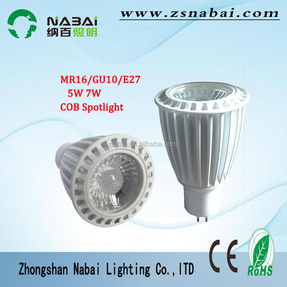 low price 7W <strong>gu10</strong> MR16 E27 led spot lighting price COB spotlights