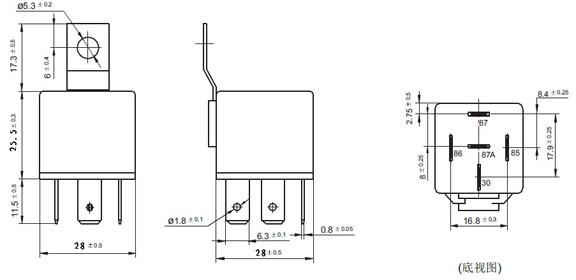 zt616 12v 24v 4pin 5pin 30a 40a 60a 80a 100 amp relay