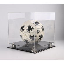 transparent clear acrylic Football Boot Display Case with UV protection
