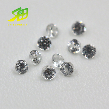 top quality round shape natural white zirconia stone prices