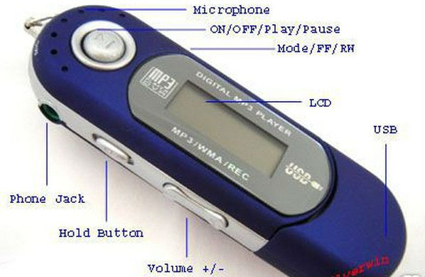 WISTA round shaped digital mp3 player with hindi movies mp3 songs
