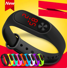 wholesale 14 colors silicone LED Digital Sport men and women Watch