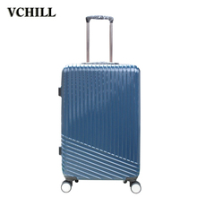 PET material hard case 3 piece trolley luggage bag for travel