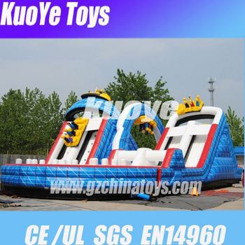 18OZ PVC obstacle inflatable obstacle with bounce