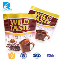 Hot sales stand up ground coffee packaging bags with zipper
