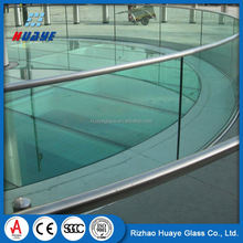 China Low Price tempered glass cut to size deck railing