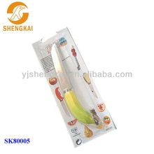 1pc stainless steel high quality with handle in banana shape fruit knife for selling