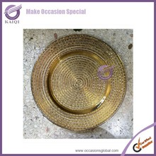 16122 superior quality new design gold charger plates wholesale rattan