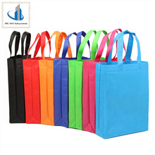 Promotion price eco recycle coloful building waste non woven shopping bag