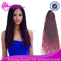 70g 24 inch high temperature fiber colored synthetic ombre marley hair braid
