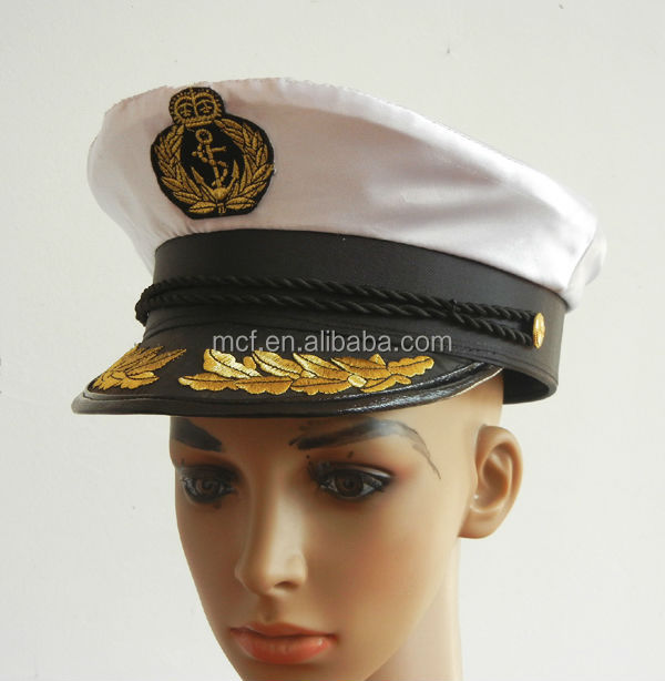 MCH-0097 Cheap Adult Party Sailor captain navy hat