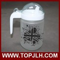 China supplier sublimation photo printed kitchenware Frosted Glass Oilcan bottle