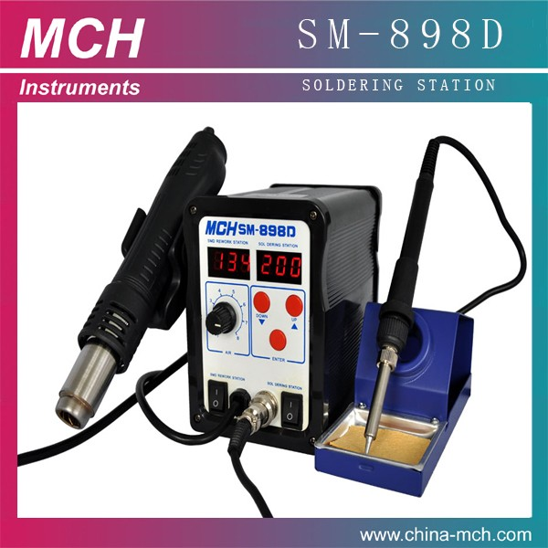 Hotselled 700w Mini 2 in 1Hot Air Desoldering Station SM-898D for electronics