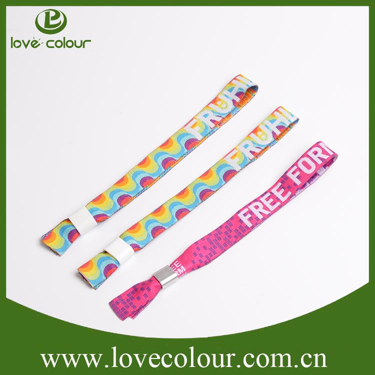 Popular custom one time woven wristband id wristband for events