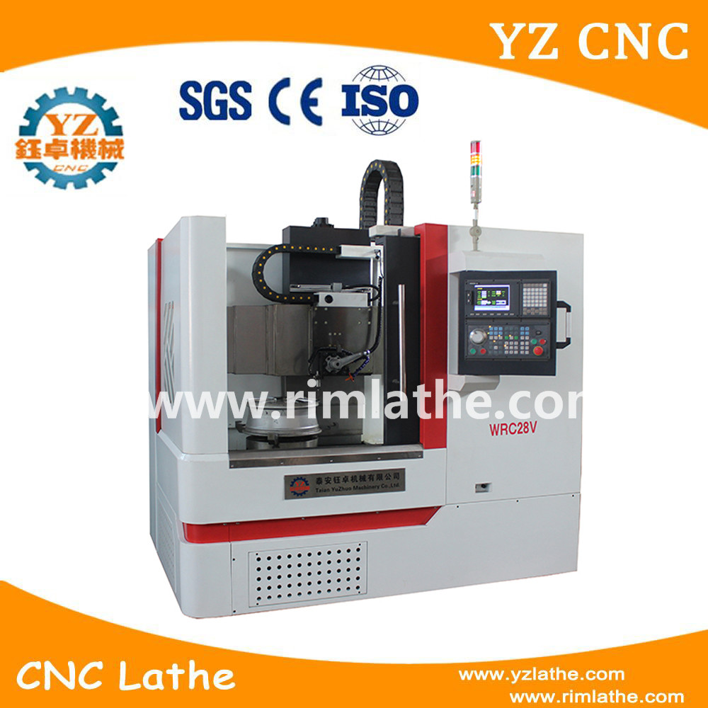 WRC26 Diamond Cut Wheel CNC Lathe For Repair Wheel Hubs