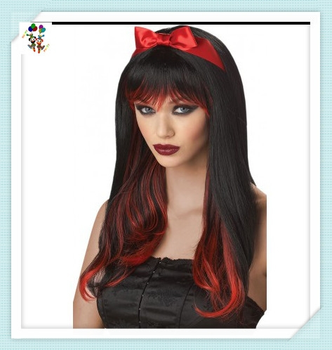 Womens Black Enchanted Tresses Synthetic Halloween Wigs HPC-1231